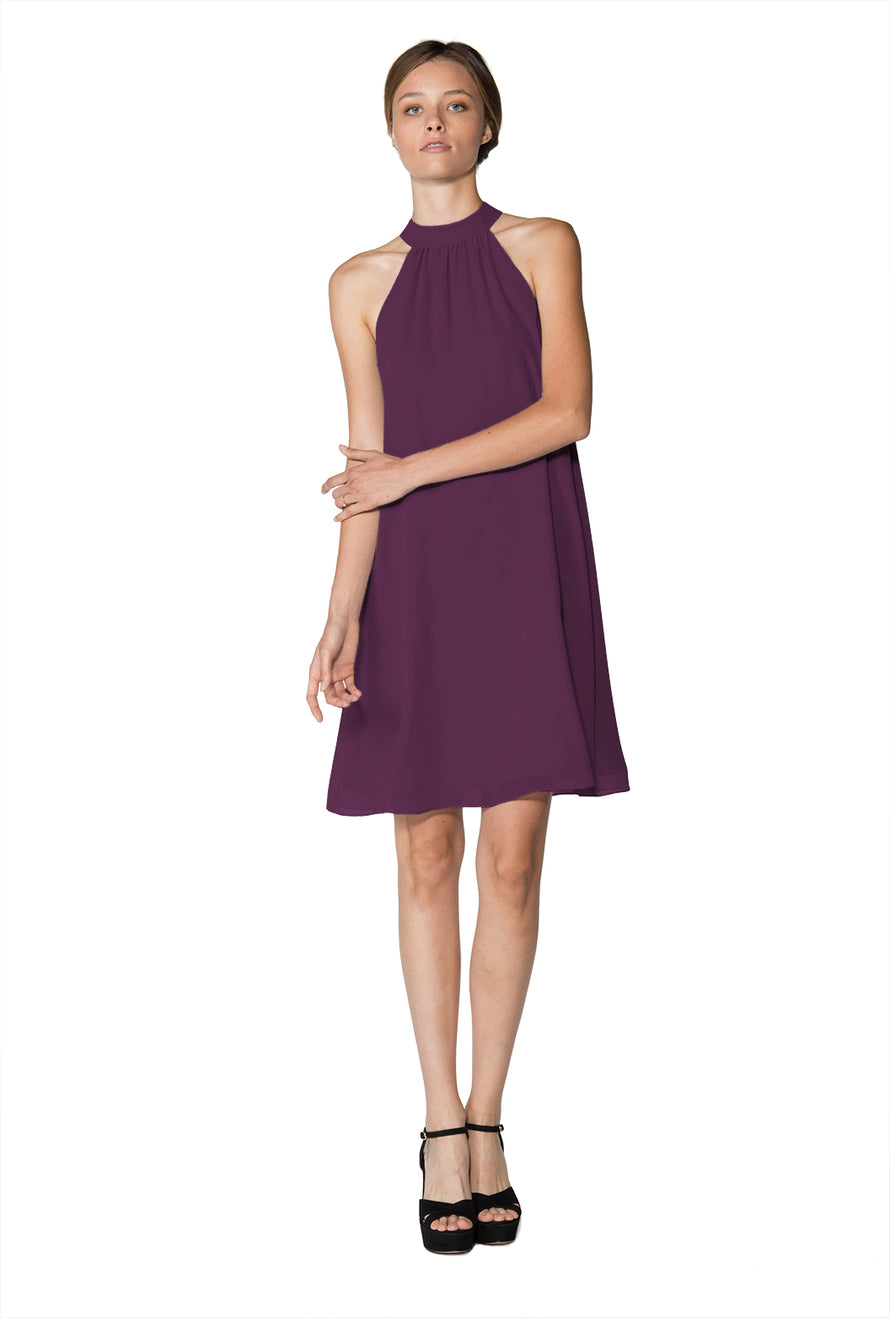 Purple Short Cocktail Dress