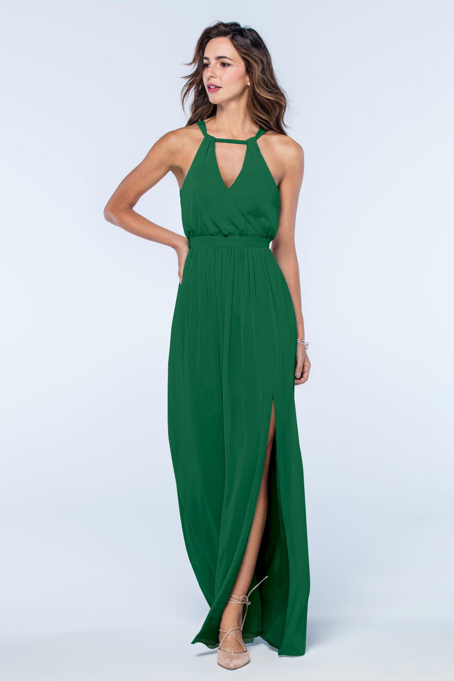 Watters Dress Fleurette emerald