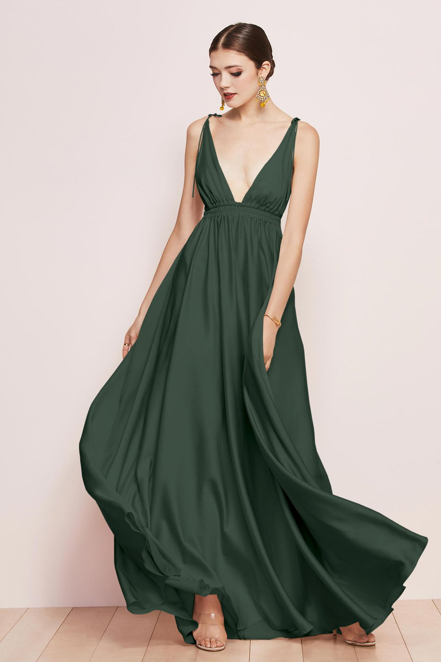 Watters Bridesmaid Dress Quentin evergreen