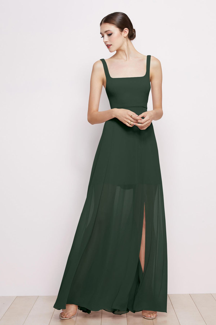 Watters Dress Aubrey evergreen