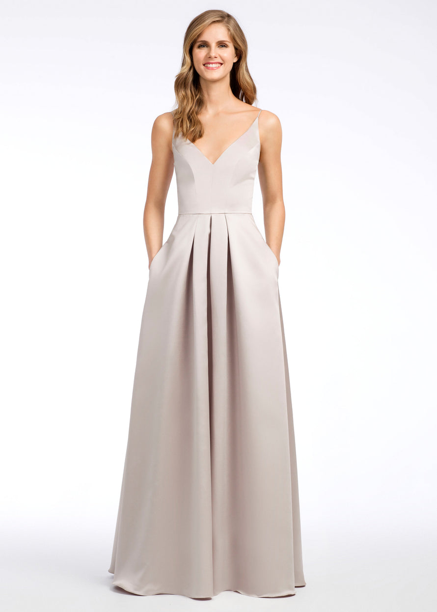 Hayley Paige Occasions Long Bridesmaid Dress - 5665 front