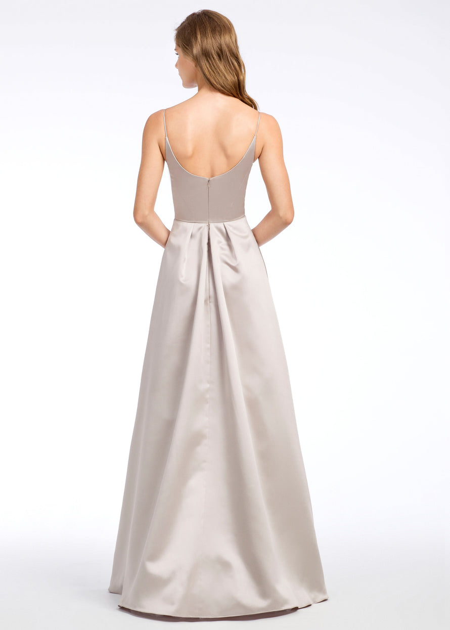 Hayley Paige Occasions Long Bridesmaid Dress - 5665 back