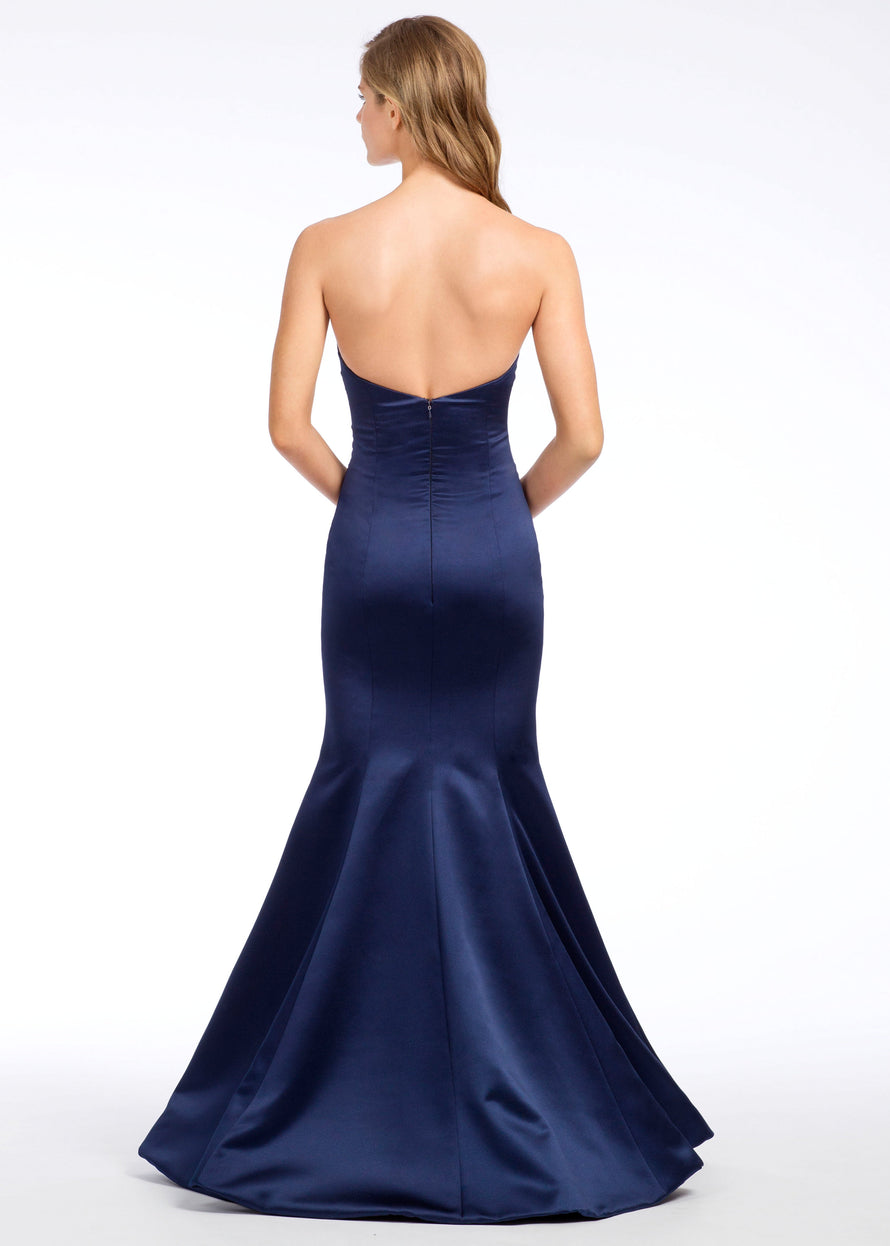 Hayley Paige Occasions Long Bridesmaid Dress - 5668 back