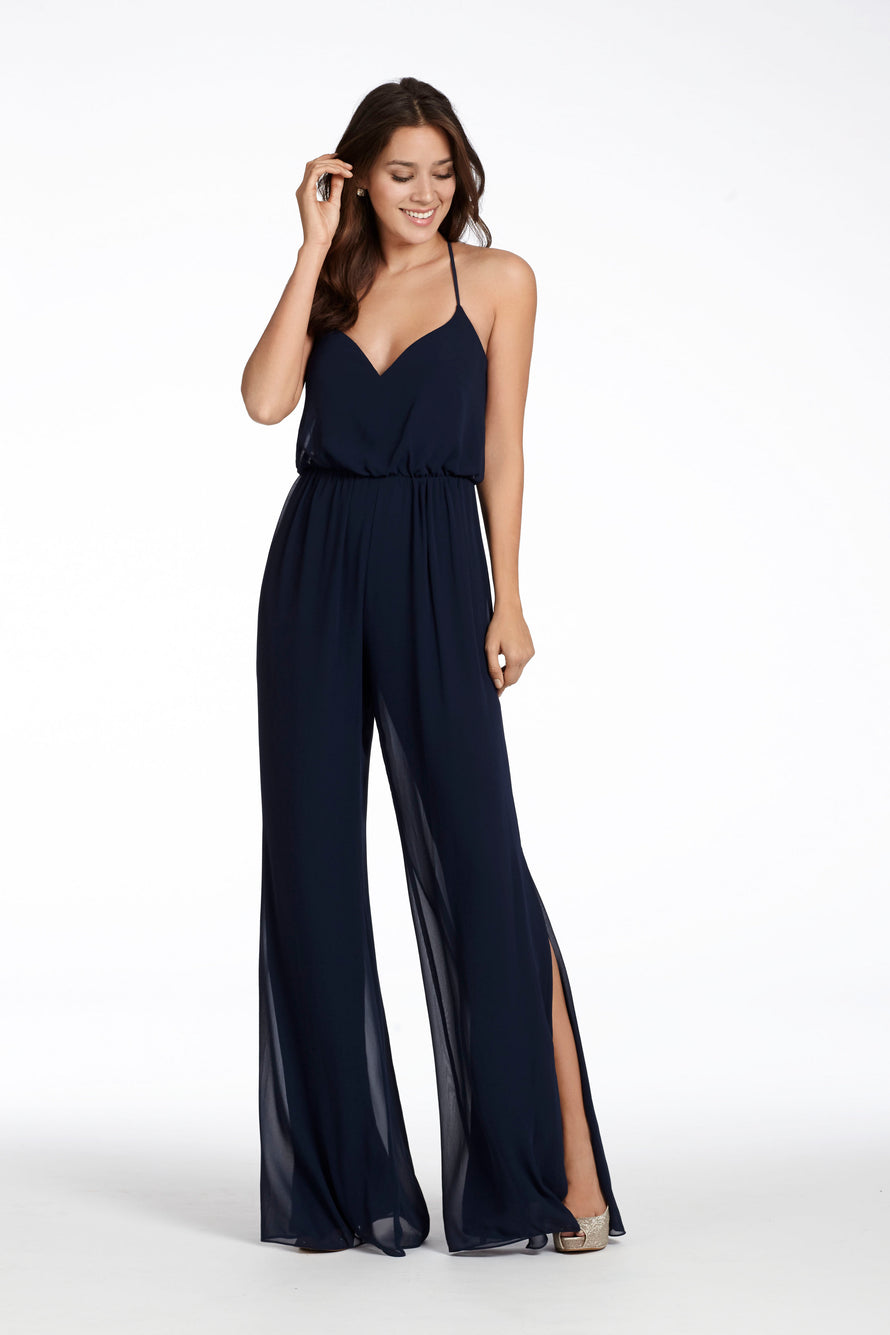 Hayley Paige Occasions Bridesmaid Jumpsuit 5710 front