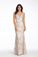 Hayley Paige Occasions Long Bridesmaid Dress 5717 front