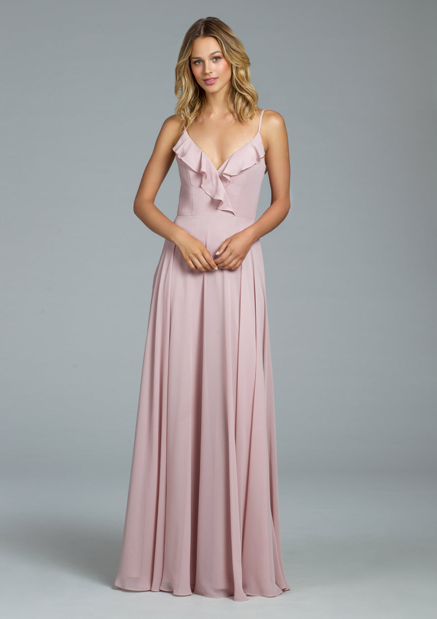 Hayley Paige Occasions Long Bridesmaid Dress - 5803