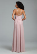 Hayley Paige Occasions Long Bridesmaid Dress - 5806 back