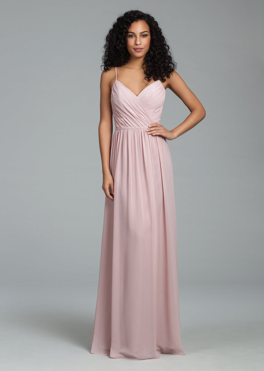 Hayley Paige Occasions Long Bridesmaid Dress - 5806 front