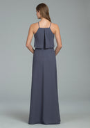 Hayley Paige Occasions Long Bridesmaid Dress - 5807 back