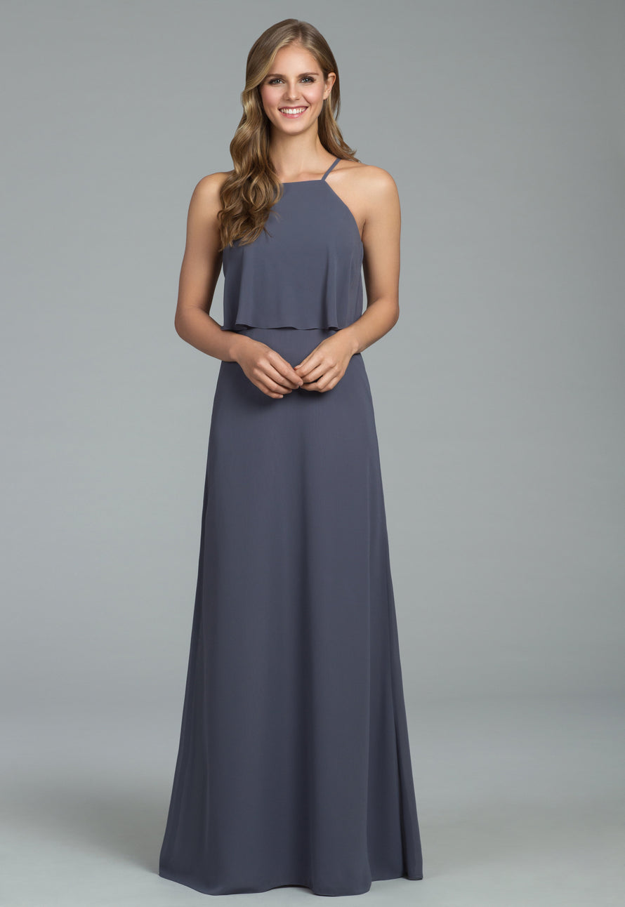 Hayley Paige Occasions Long Bridesmaid Dress - 5807 front