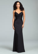 Hayley Paige Occasions Long Bridesmaid Dress - 5814 front