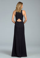Hayley Paige Occasions Long Bridesmaid Dress - 5816-back