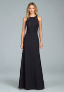 Hayley Paige Occasions Long Bridesmaid Dress - 5816-front