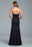 Hayley Paige Occasions Long Bridesmaid Dress - 5817 back