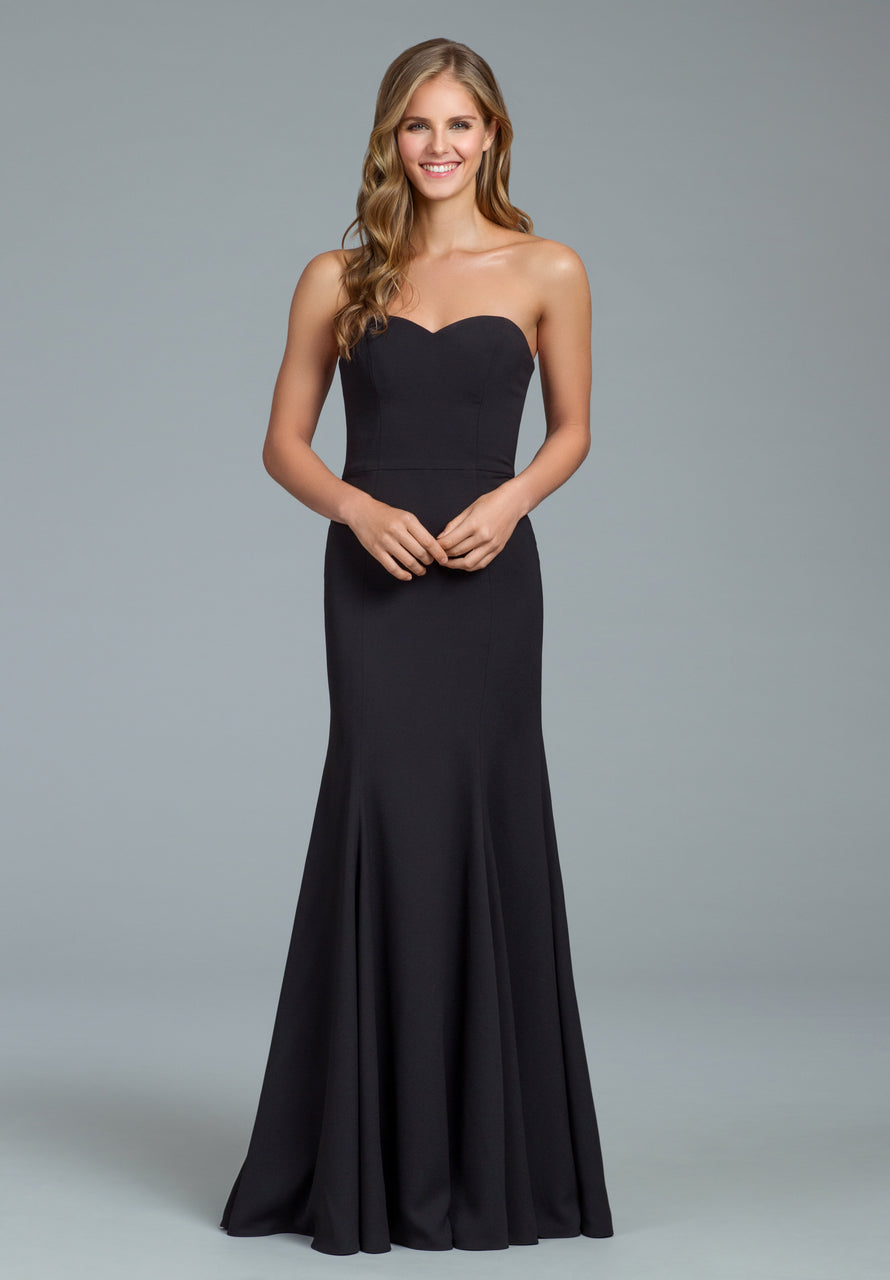 Hayley Paige Occasions Long Bridesmaid Dress - 5817 front