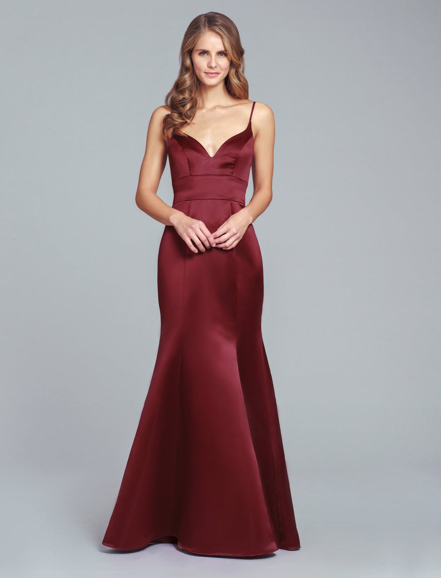 Hayley Paige Occasions Long Bridesmaid Dress - 5852 front