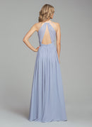 Hayley Paige Occasions Long Bridesmaid Dress - 5855 back