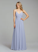 Hayley Paige Occasions Long Bridesmaid Dress - 5855 front
