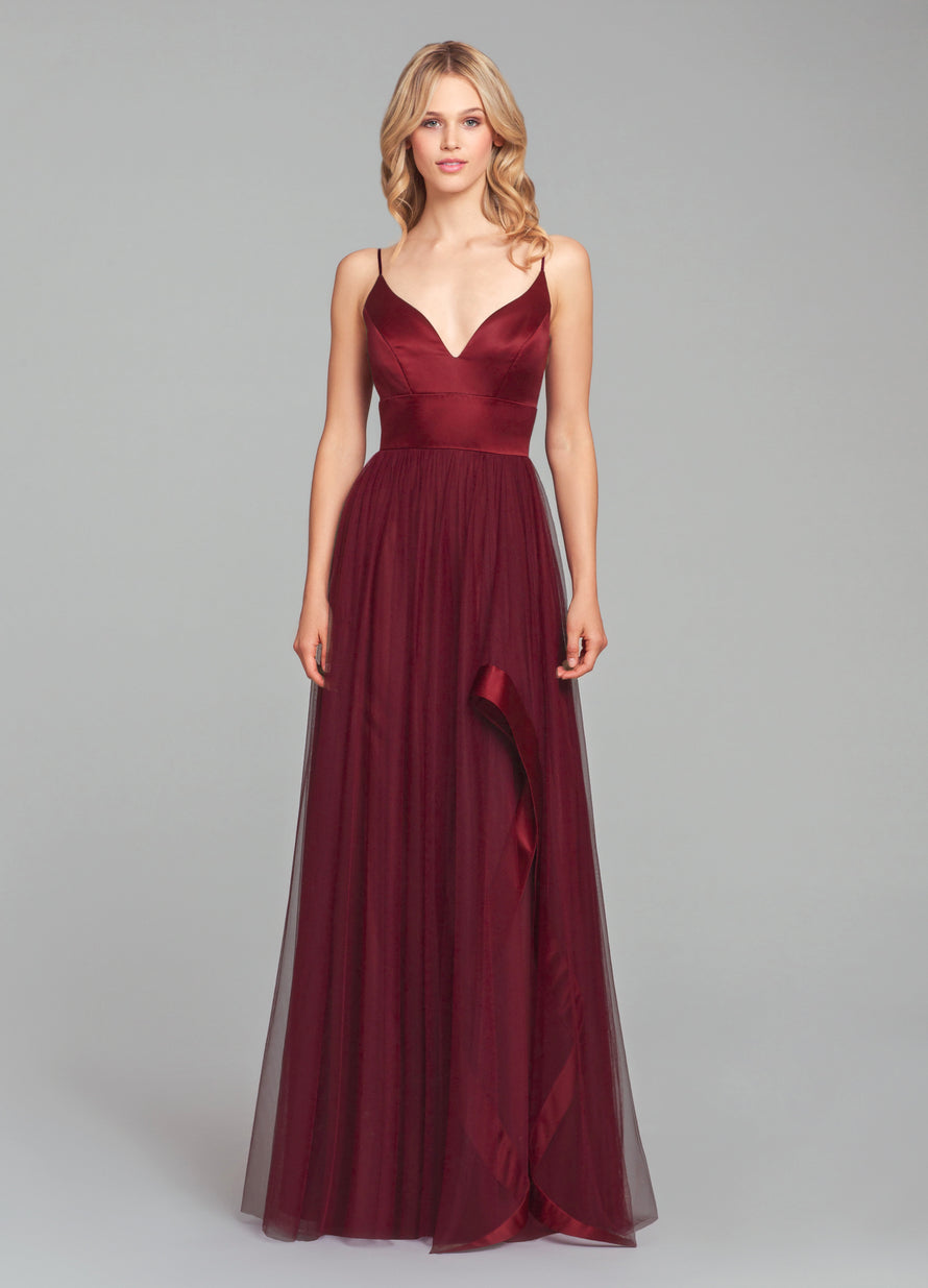 Hayley Paige Occasions Long Bridesmaid Dress - 5856 front
