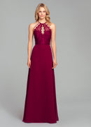 Hayley Paige Occasions Long Bridesmaid Dress - 5857 front