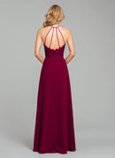 Hayley Paige Occasions Long Bridesmaid Dress - 5857 back