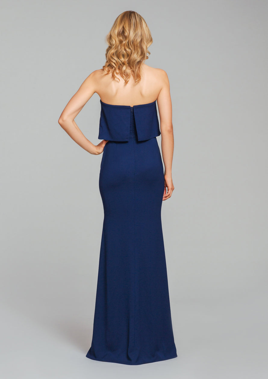 Hayley Paige Occasions Long Bridesmaid Dress - 5860 back