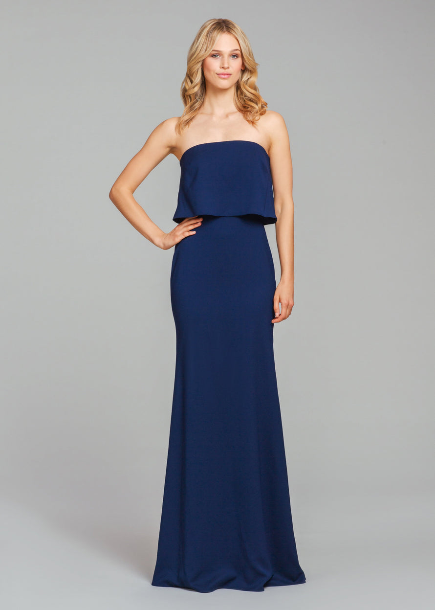 Hayley Paige Occasions Long Bridesmaid Dress - 5860 front