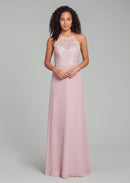 Hayley Paige Occasions Long Bridesmaid Dress - 5861 front