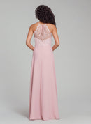 Hayley Paige Occasions Long Bridesmaid Dress - 5861 back