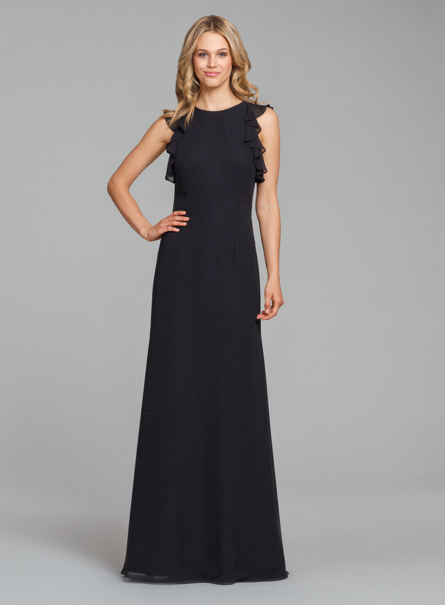 Hayley Paige Occasions Long Bridesmaid Dress - 5863 front