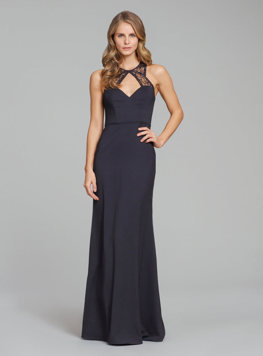 Hayley Paige Occasions Long Bridesmaid Dress - 5867