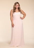 Hayley Paige Occasions Plus Size Long Bridesmaid Dress - w904 FRONT