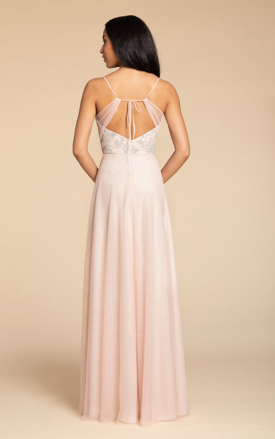 Hayley Paige Occasions Long Bridesmaid Dress - 5903 back