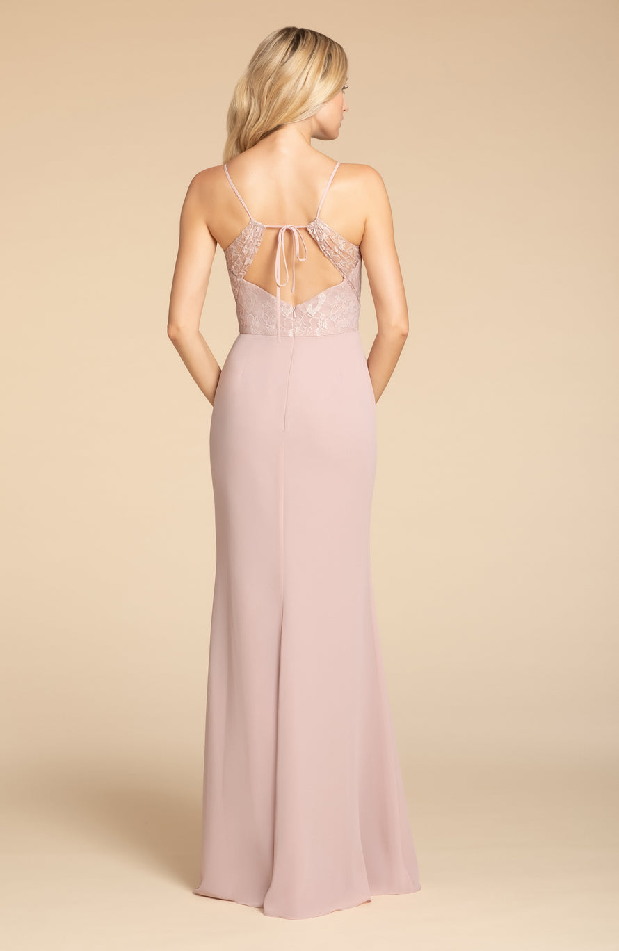Hayley Paige Occasions Long Bridesmaid Dress - 5905 back