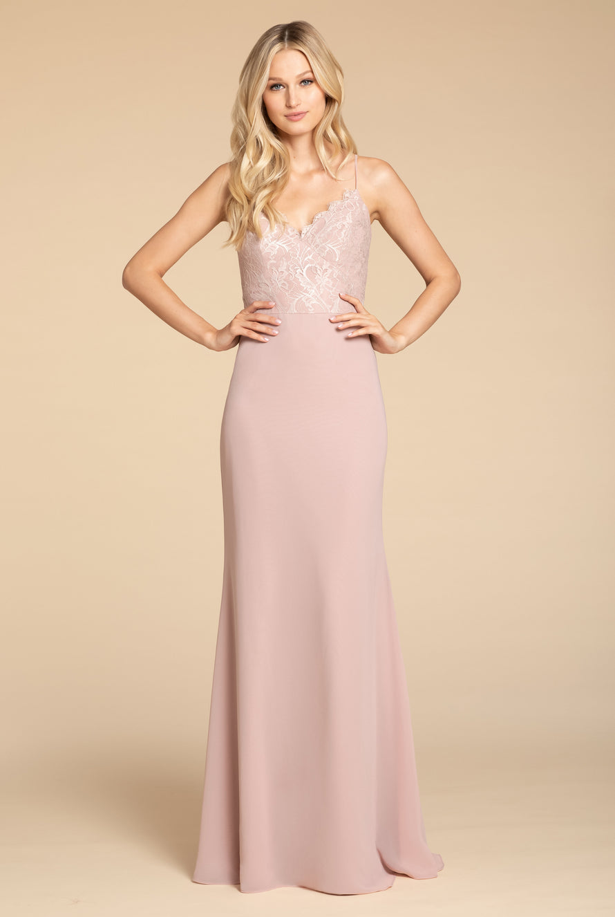 Hayley Paige Occasions Long Bridesmaid Dress - 5905 front