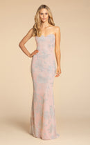 Hayley Paige Occasions Long Bridesmaid Dress - 5907 front