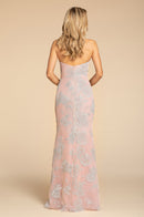 Hayley Paige Occasions Long Bridesmaid Dress - 5907 back