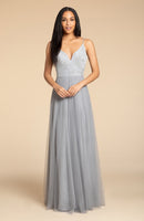 Hayley Paige Occasions Long Bridesmaid Dress - 5908 front