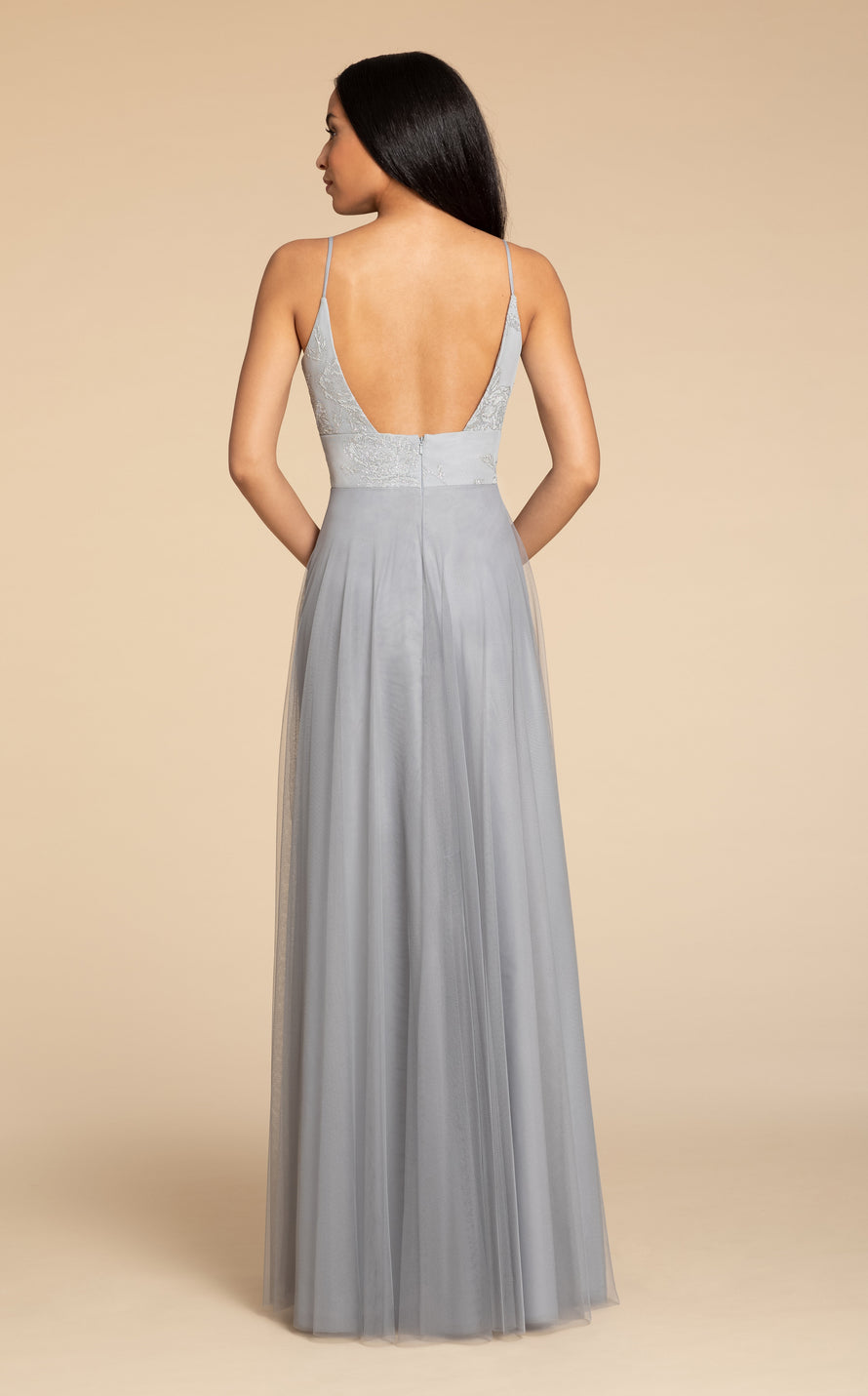 Hayley Paige Occasions Long Bridesmaid Dress - 5908 back