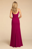 Hayley Paige Occasions Long Bridesmaid Dress - 5910 back