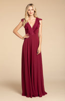 Hayley Paige Occasions Long Bridesmaid Dress - 5912 front