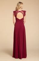 Hayley Paige Occasions Long Bridesmaid Dress - 5912 back