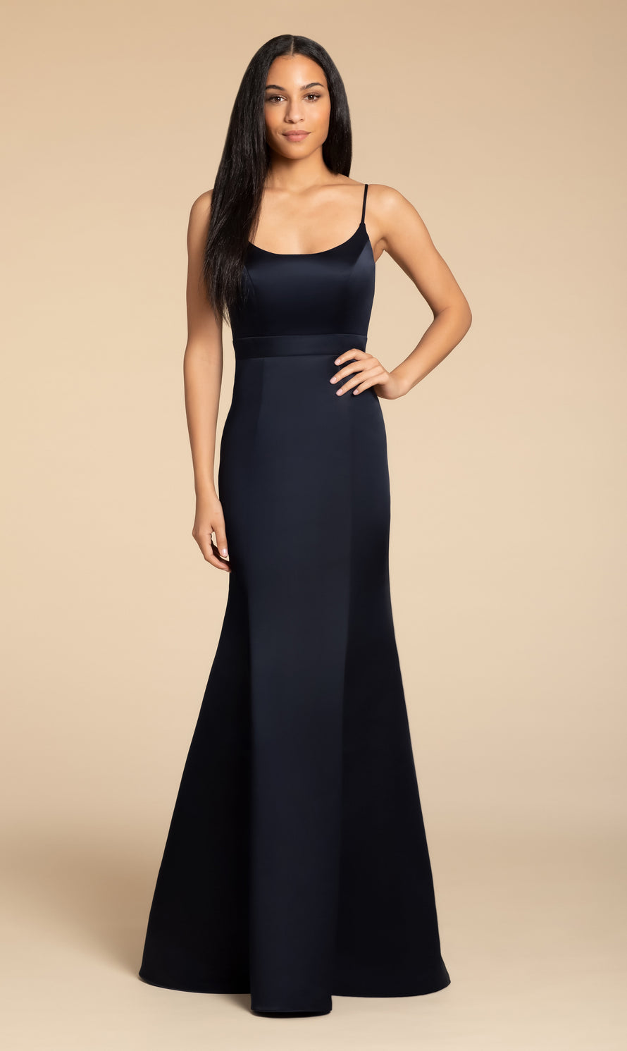 Hayley Paige Occasions Long Bridesmaid Dress - 5915 front