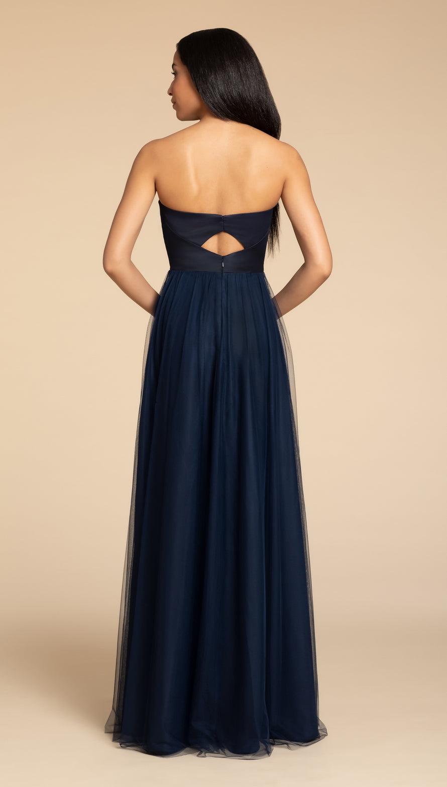 Hayley Paige Occasions Long Bridesmaid Dress - 5916 back