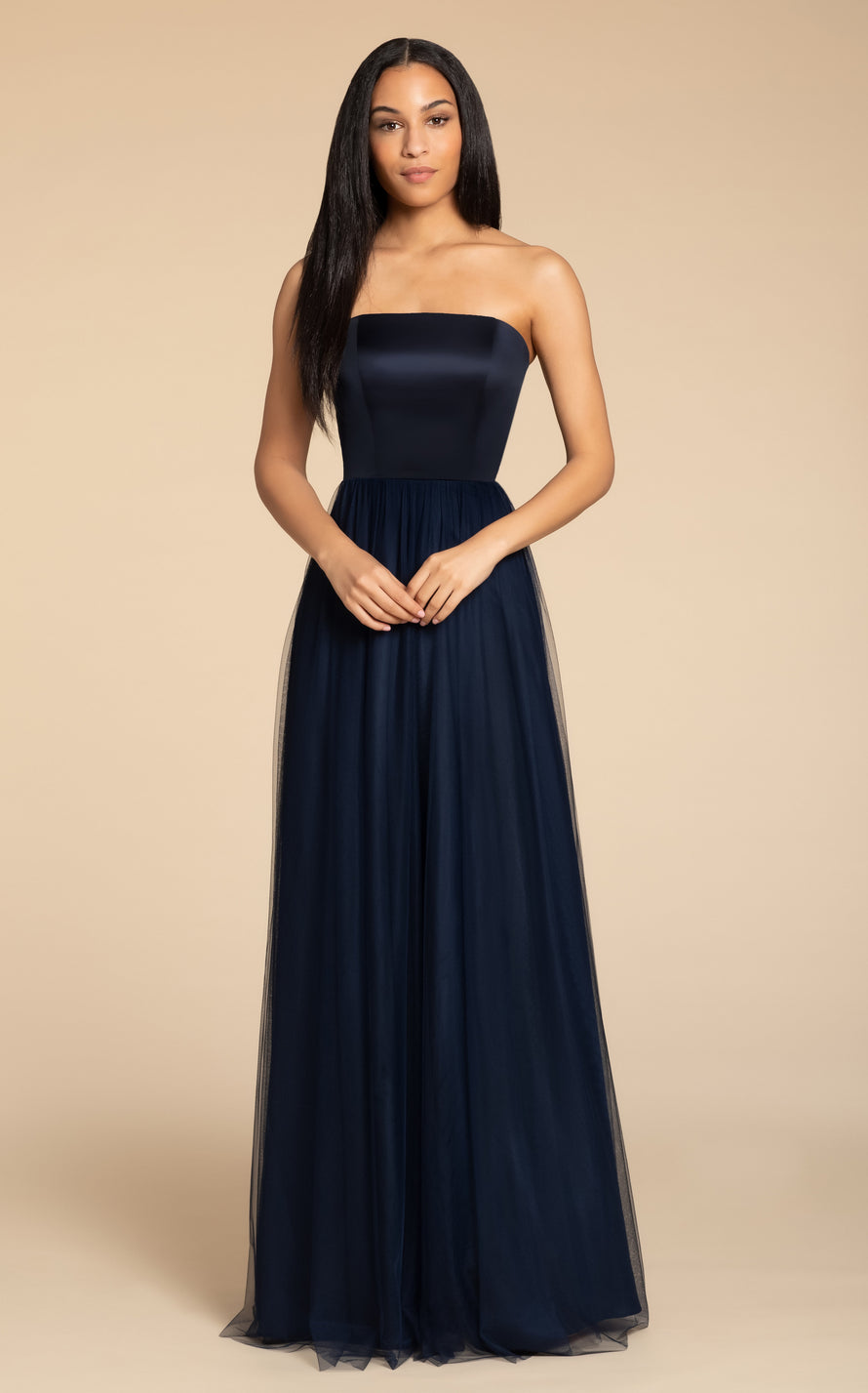 Hayley Paige Occasions Long Bridesmaid Dress - 5916 front