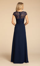 Hayley Paige Occasions Long Bridesmaid Dress - 5917 back