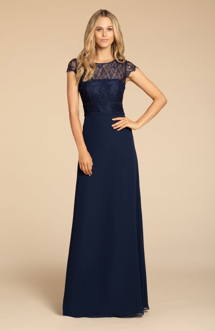 Hayley Paige Occasions Long Bridesmaid Dress - 5917 front