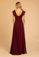 Hayley Paige Occasions Long Bridesmaid Dress - 52010 back