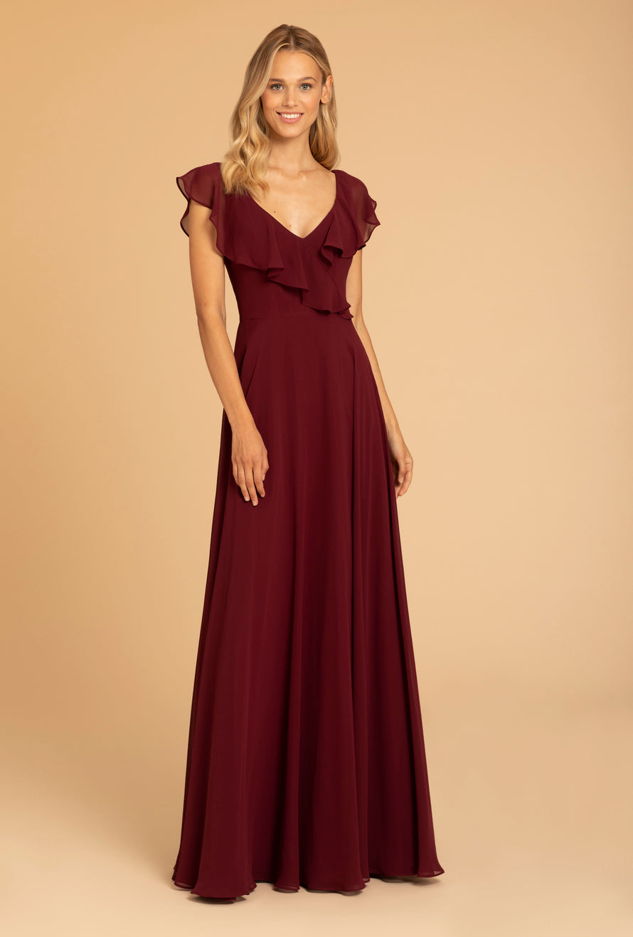 Hayley Paige Occasions Long Bridesmaid Dress - 52010 front