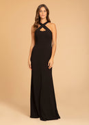 Hayley Paige Occasions Long Bridesmaid Dress - 52014 front